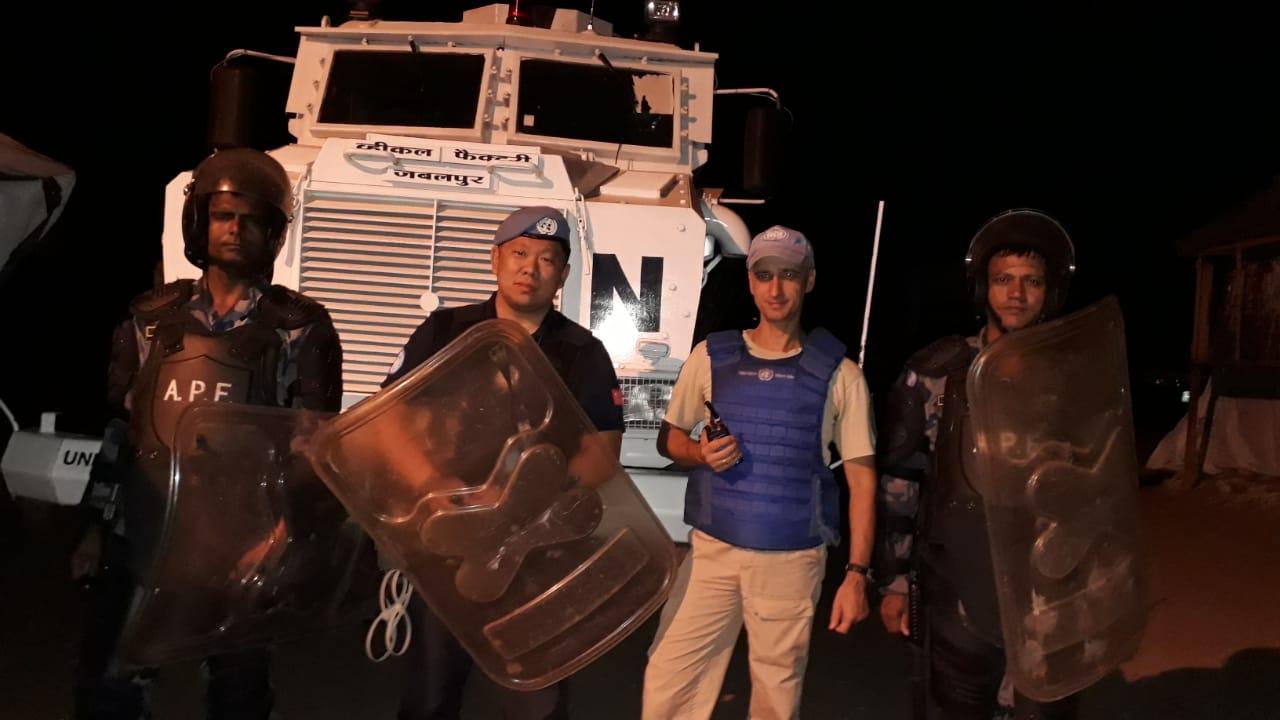 张凯作为第七支赴南苏丹维和警队的一员,在南苏丹执行任务超过两年。受访者供图