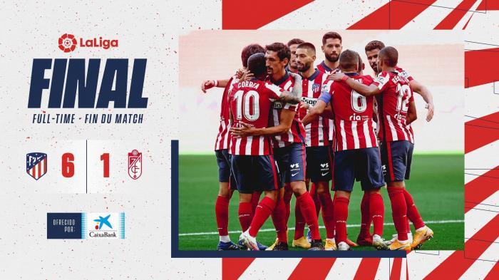 巴萨转会至马竞的苏亚雷斯上演首秀,攻入两球助马竞6:1大胜格拉纳达