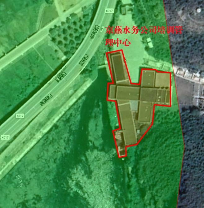 拒马河自然保护区核心区边界和该建筑区位关系。图片来自生态环境部