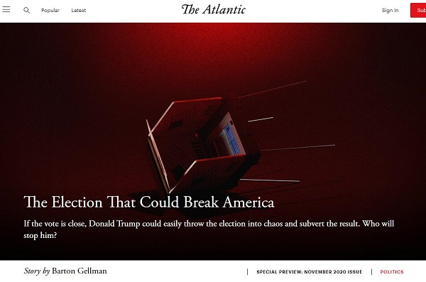 巴顿·盖尔曼:可能让美国崩溃的选举