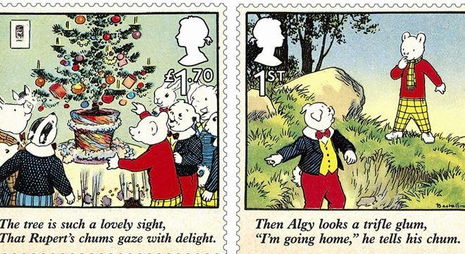 英国皇家邮政发行新邮票 纪念小熊鲁伯特100岁生日