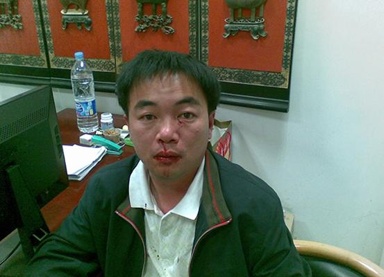陈清海遭受袭击负伤。
