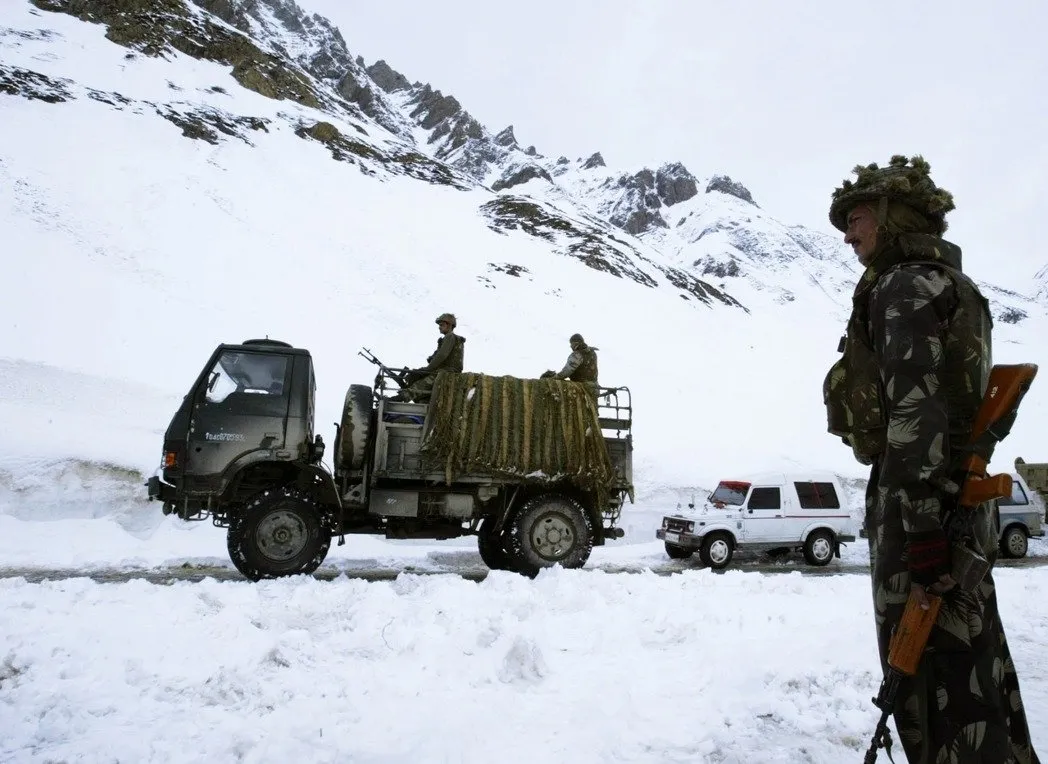 印度边界驻军(图源:美联社)