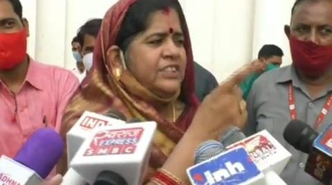 印度中央邦女部长伊玛蒂·德维(《印度快报》)