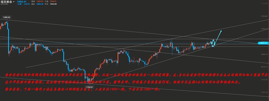 汤友良:1.2下周一黄金原油最新走势分析、黄金原油投资理财.