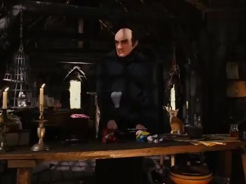 蓝精灵:格格巫用了魔法,可惜他失败了,他的房子都炸没了