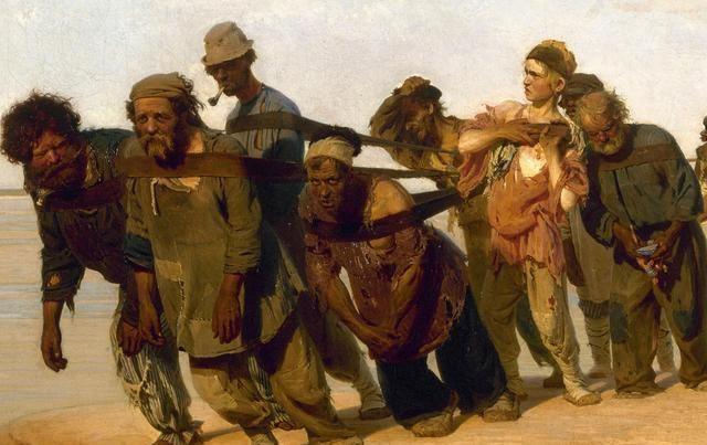 纤绳下被压迫的灵魂——列宾《伏尔加河上的纤夫》