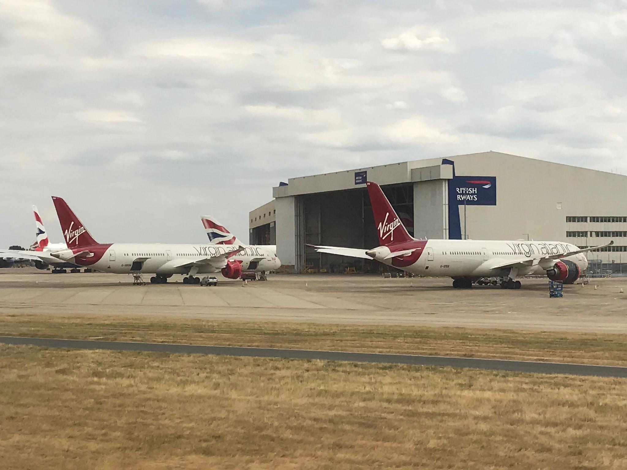 停飞的维珍航空波音787,装载的瑞达1000发动机准备维修