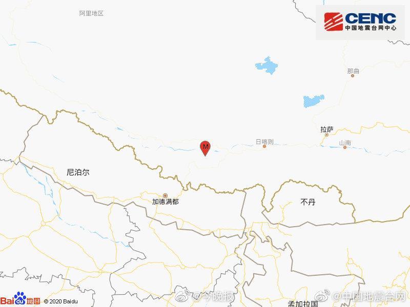西藏日喀则市定日县发生3.1级地震 震源深度10千米