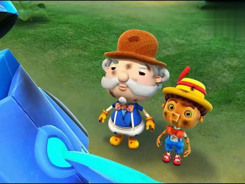 猪猪侠:炸弹河马怪厉害,冰封鹿掩护匹诺曹逃跑了,自己却被抓