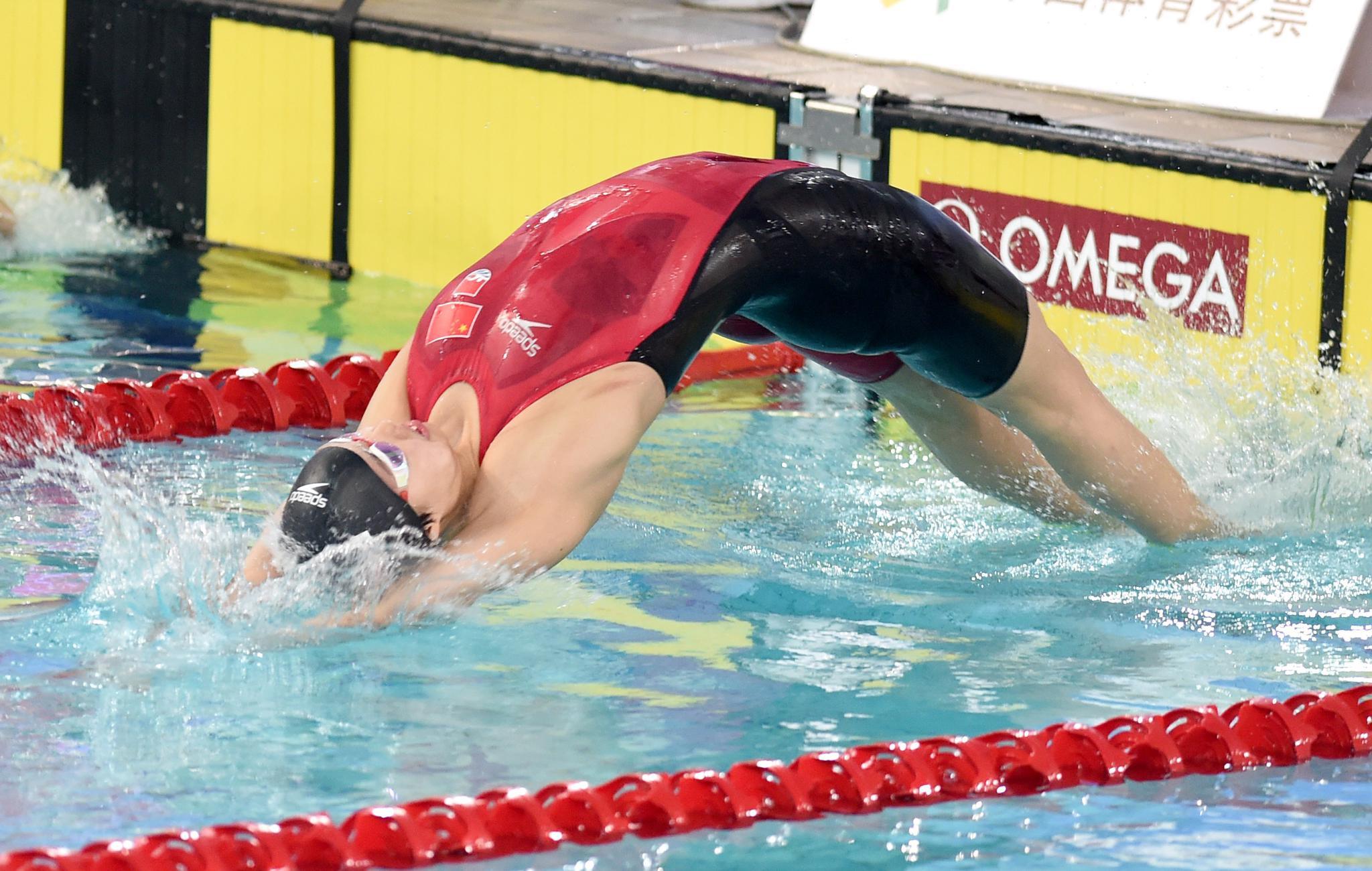 游泳——全国游泳争霸赛:彭旭玮获女子100米仰泳冠军