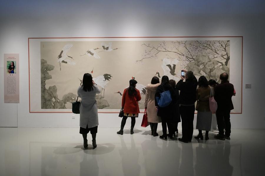 2021江苏省国画院中国画作品展在南昌开幕 展出精品131幅