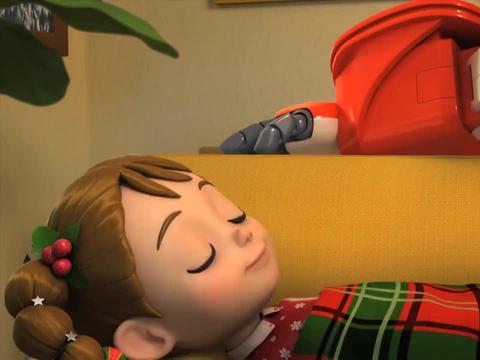 超级飞侠:圣诞老人不负责,想在女孩家睡觉,不去送礼物了么