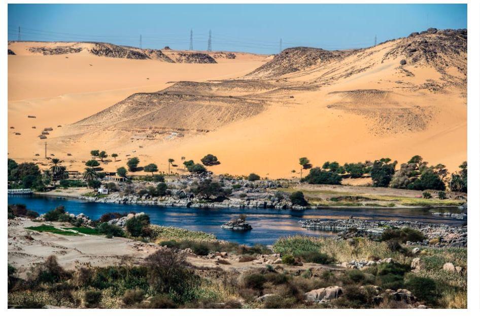 ▲埃及境内的尼罗河。图片来自网络。