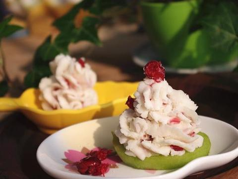 好吃到停不下来的蔓越莓山药泥,营养丰富,口感绵密