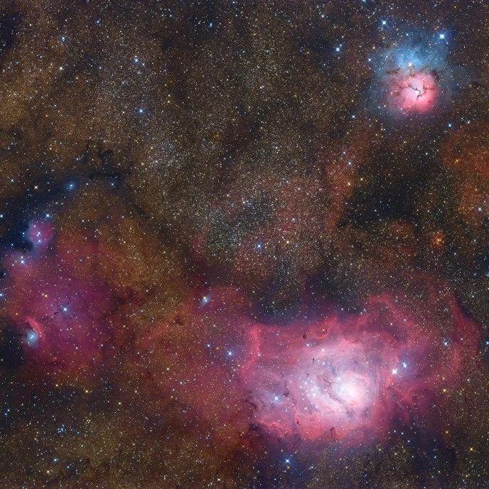 每日天文一图 | 人马座三重星云