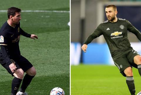 卢克·肖本赛季创造的机会和梅西一样多,曼联球迷将他比作卡洛斯