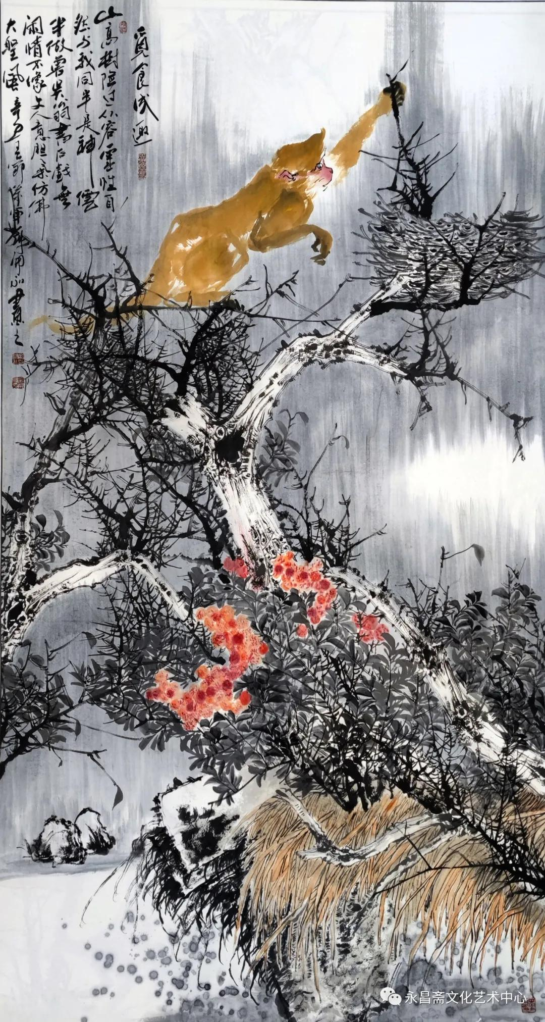"""""""百猴闹春""""刘开永中国画展4月29日即将在淮北刘开渠纪念馆开幕"""