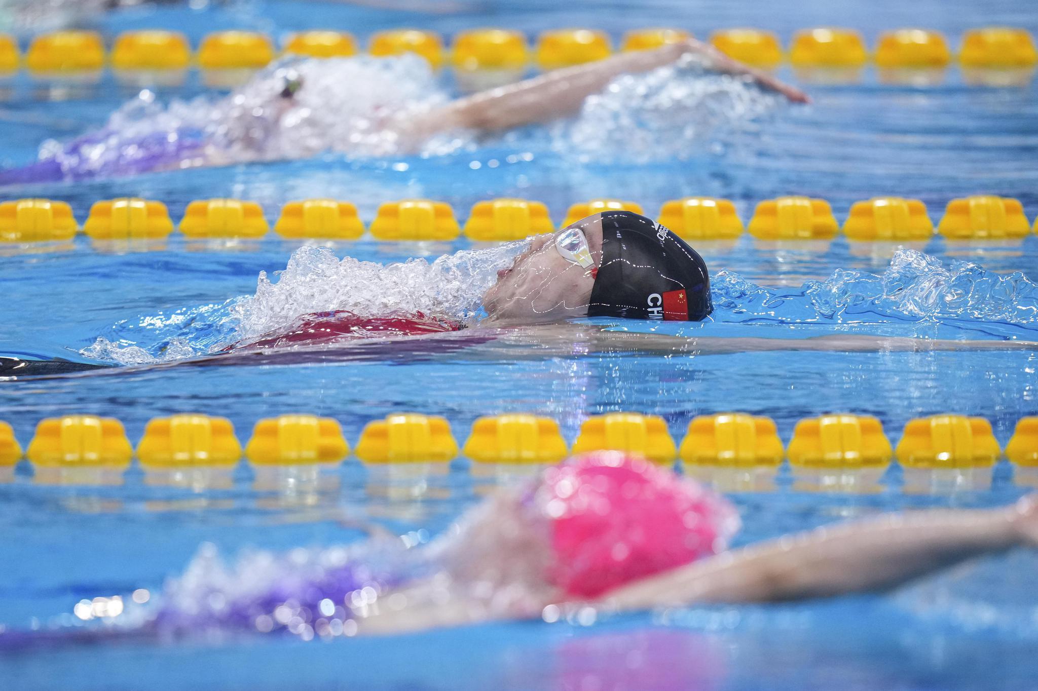 游泳——全国冠军赛:彭旭玮获得女子100米仰泳亚军