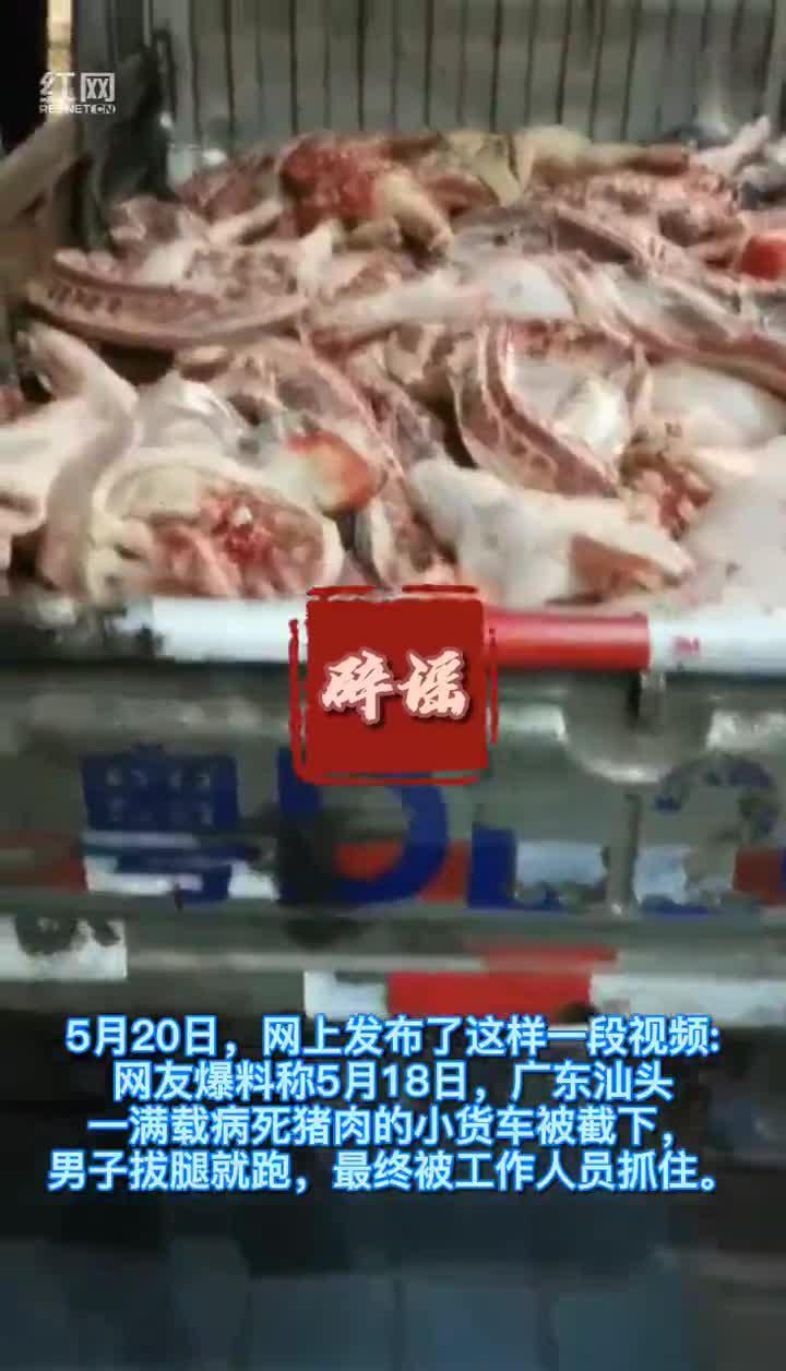 视频|汕头一满载病死猪肉的小货车被拦下?别信!这是2019年发生的事情!