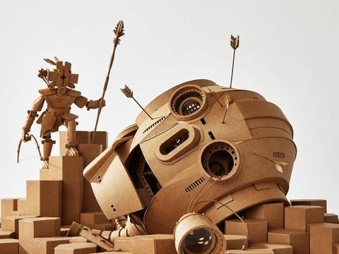 这反乌托邦的未来世界竟然是硬纸板,艺术家带您领略纸雕塑的魅力