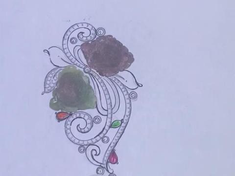 碧玺花朵,常开不败的胸针吊坠两用珠宝