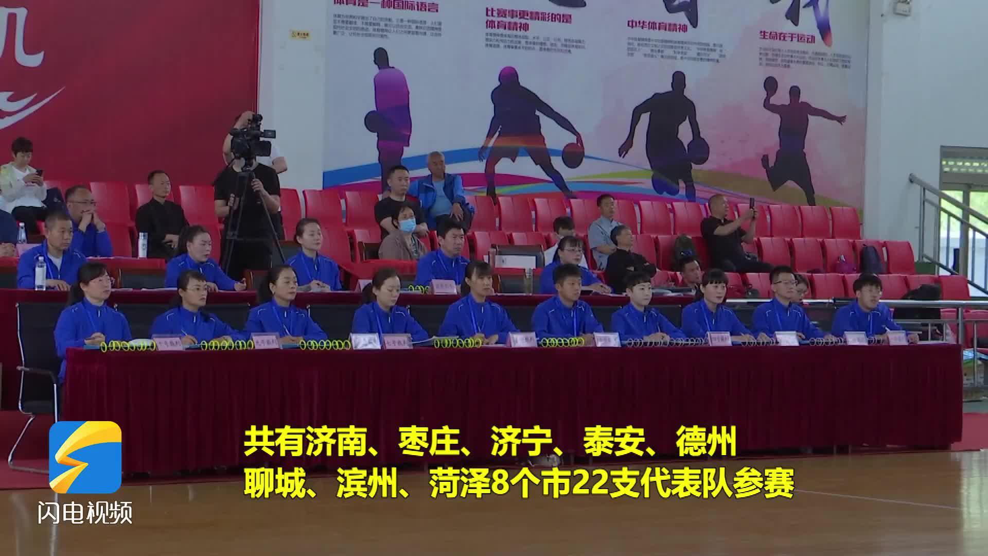 2021年山东省健身气功站点联赛(西部赛区)在枣庄市台儿庄区开赛