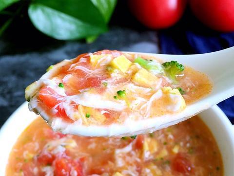 番茄蛋花汤,营养健康,省时又方便