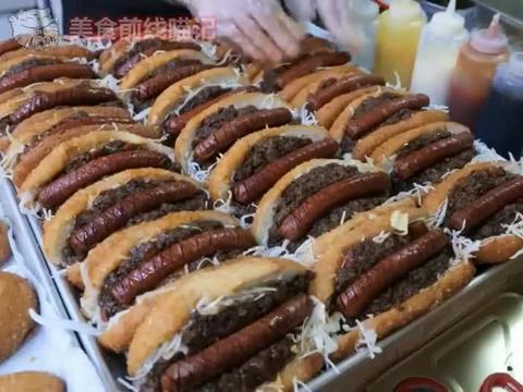 首尔美食工厂,韩式腊肠热狗,让人食指大动