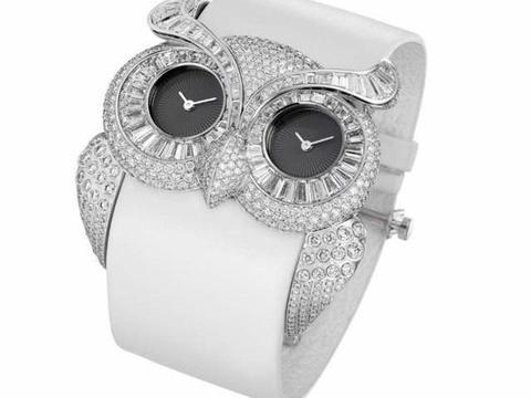 一款萧邦镶钻手表,4种钻石镶嵌工艺,迫镶有张力、微镶显火彩