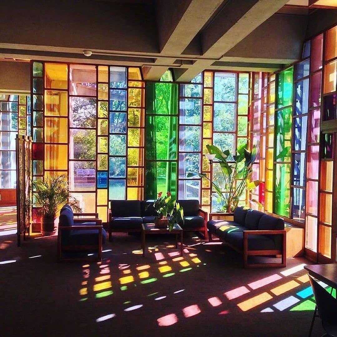 """美国""""圣路易斯道德学会""""的大厅设计……"""
