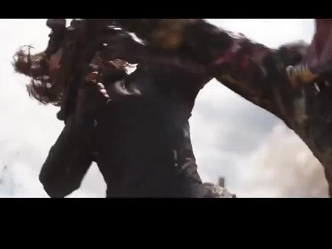复联3:雷神震撼出场瓦坎达,一斧子劈下,队长和黑豹都惊呆了