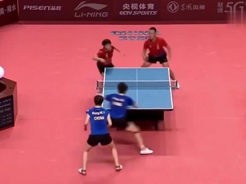混双王楚钦王曼昱被逼到决胜局,还好抓住了徐晨皓一个弱点!