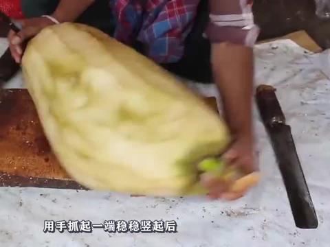 第一眼以为是菠萝蜜,切开后里面啥也没有,被坑惨了!