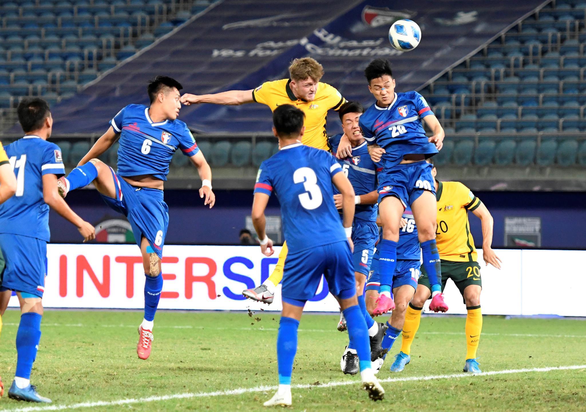 足球——世预赛:澳大利亚胜中国台北