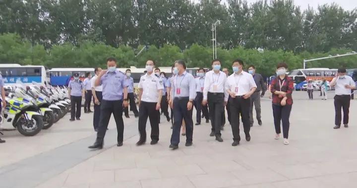 穆杰来滨城区巡查高考保障工作