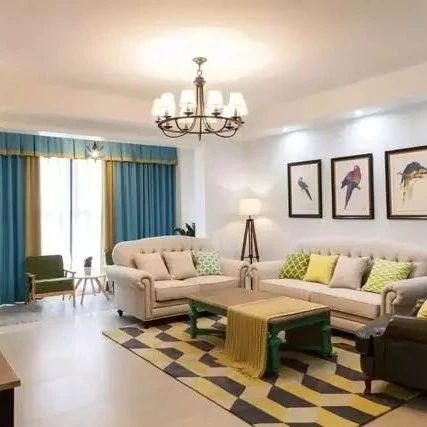 146平的美式风四居室,暖色调的灯光和墙面好温馨