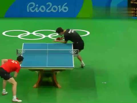 里约奥运会乒乓球男单决赛,马龙第4局114张继科,完成大满贯