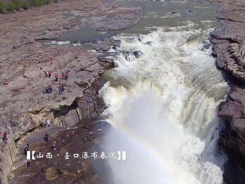 滚滚黄河为何会突然出现清流?壶口瀑布:一半浑水、一半清水