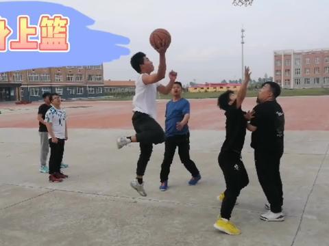 乡村篮球活动,九年级学生挺厉害,打得镇政府球队没有还手之力