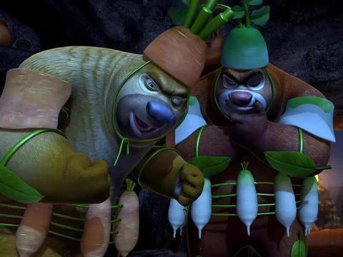 熊出没:为了救国王,三个人闯入腐朽国王的地方,准备抢花苞