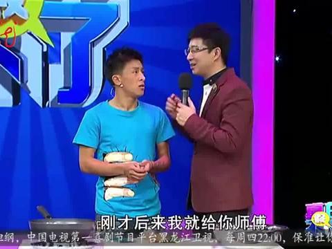 王小利手拿着刀切黄瓜,嘴里说着谢广坤,笑坏了我丨真的假不了
