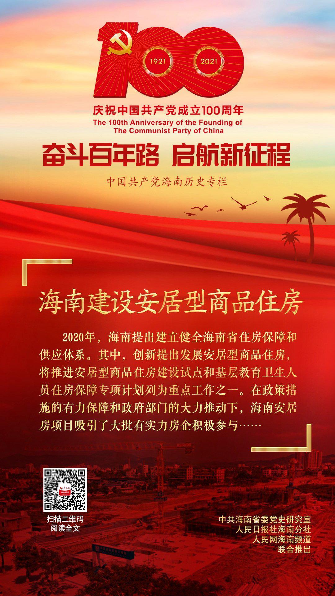 海南党史百件大事 第84集|海南建设安居型商品住房