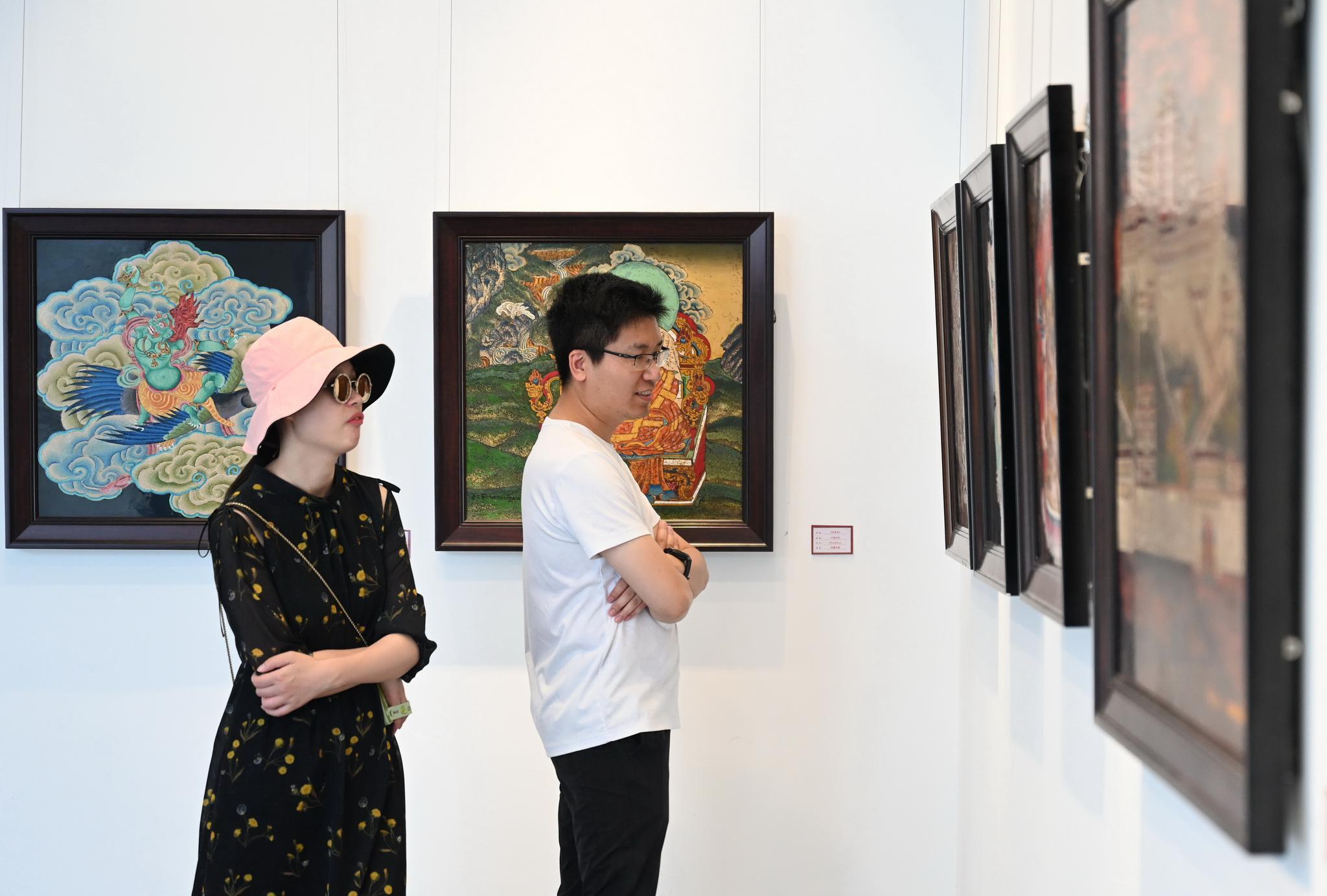 """""""雪域之光——中国唐卡漆画创新实践成果展""""在福州举行"""