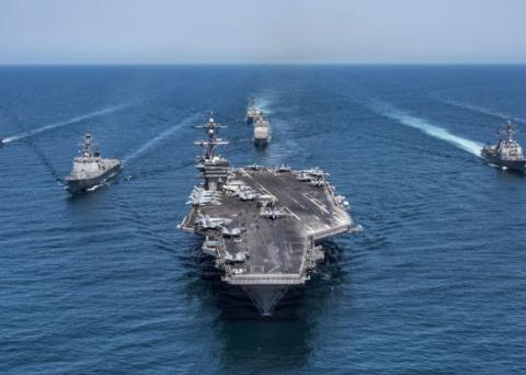 美国航母编队的基本配置