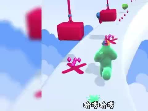 疯狂橡皮人:塔米变成了橡皮人,在赛道上面捡红宝石!