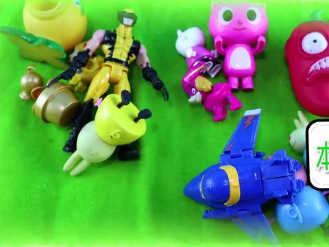 迷你特工队汪汪队小猪佩奇,超级飞侠钢铁侠进行颜色分类