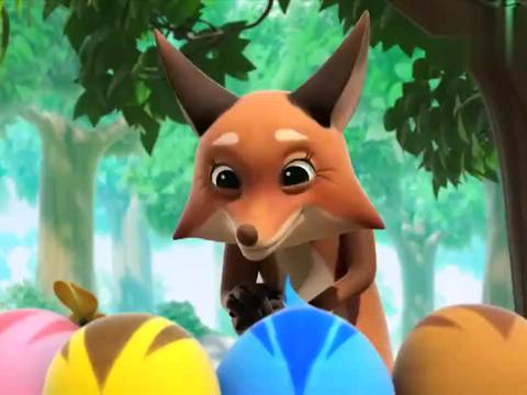 萌鸡小队:狐狸奶奶真是聪明,用故事教育小鸡,阻止了他们的幻想