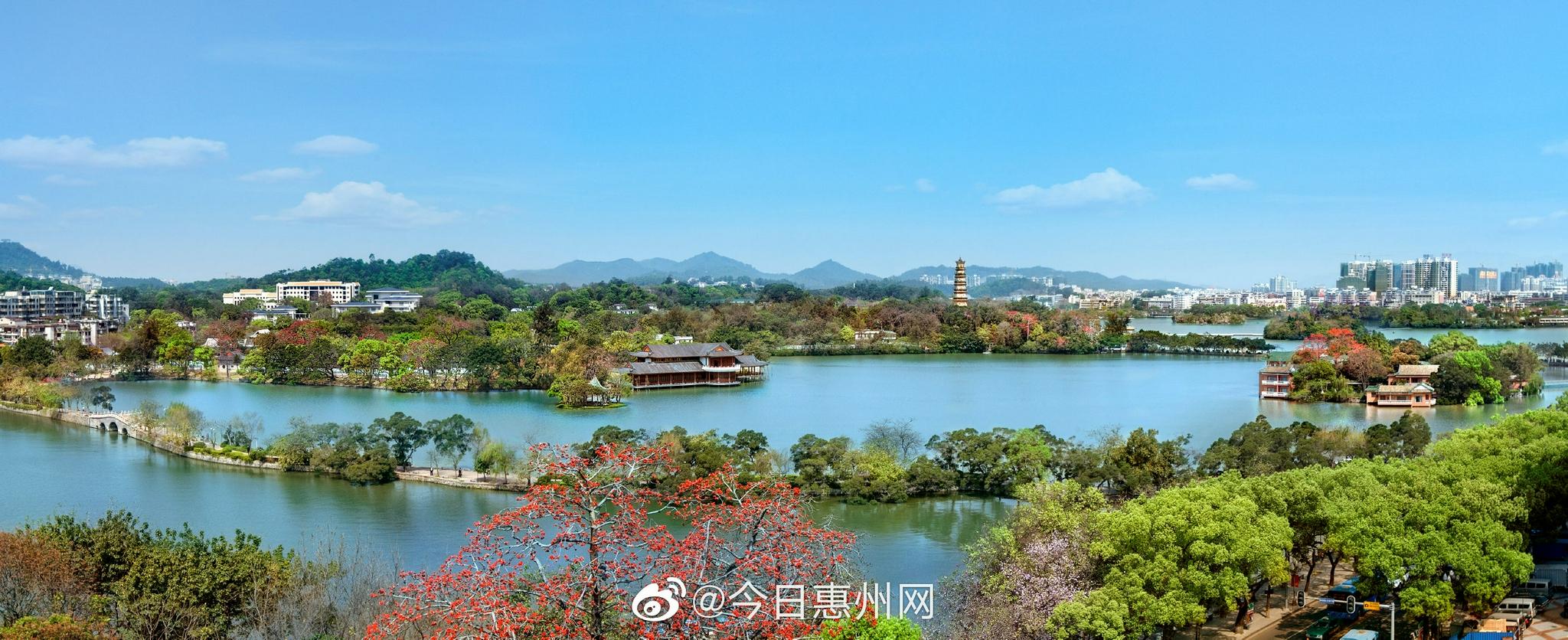 惠州西湖景区实行分时段预约入园