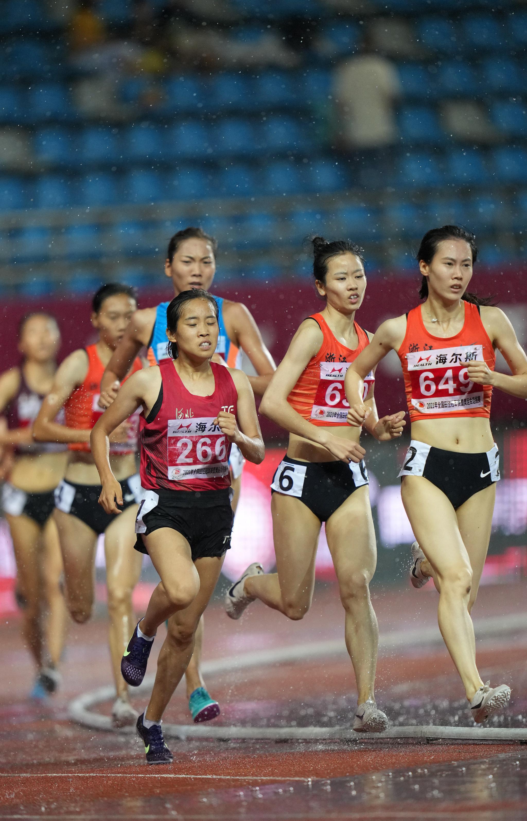 田径——全国冠军赛:郑小倩获得女子1500米冠军